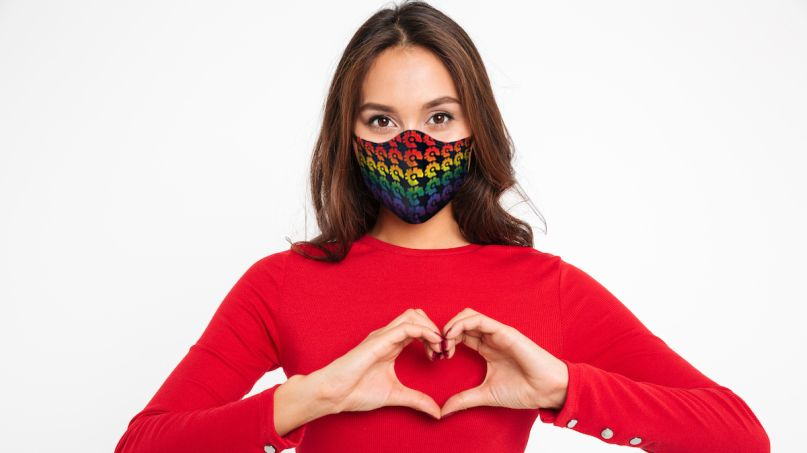 pride month face mask for sale