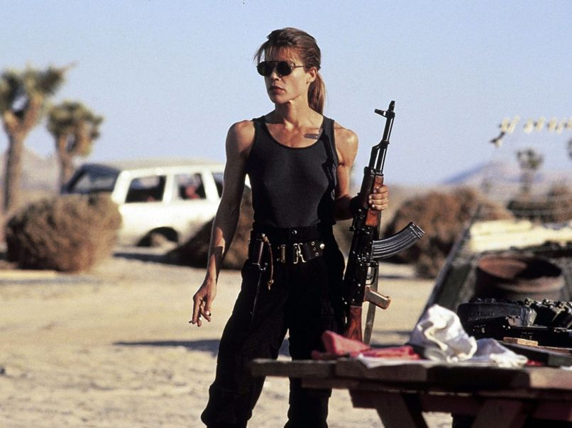 Linda Hamilton as Sarah Connor in Ter