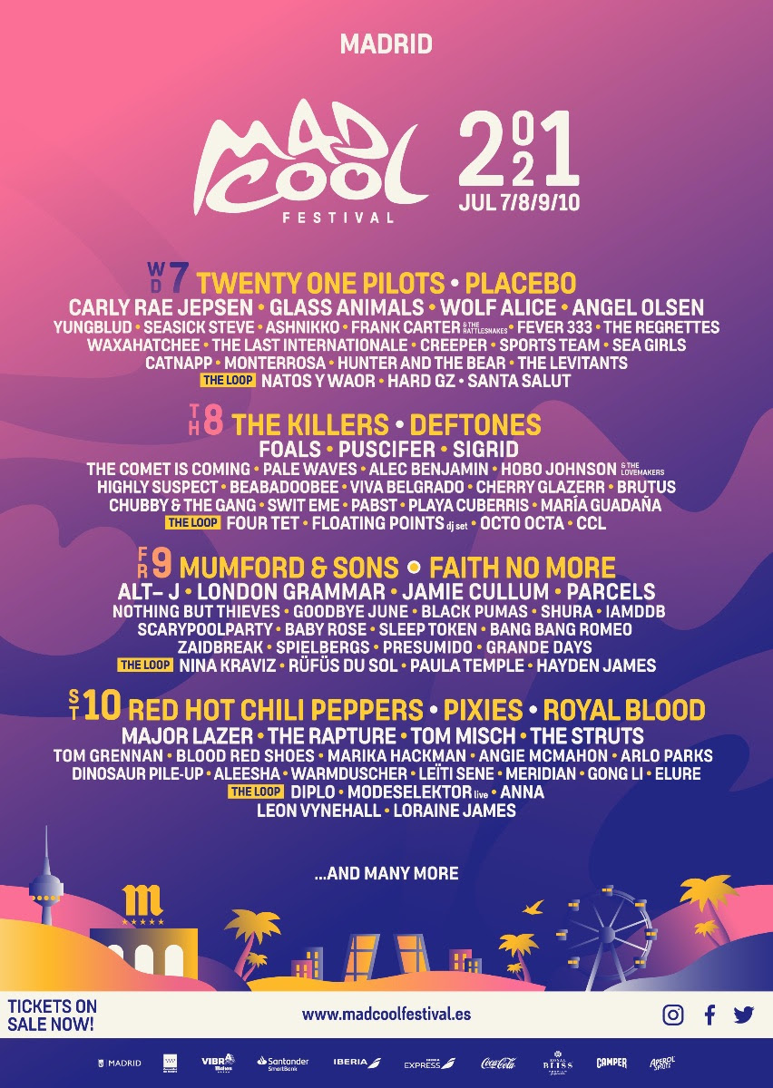 Mad Cool Festival 2021 lineup
