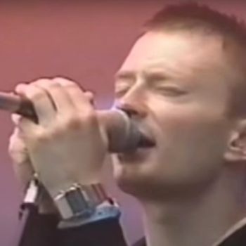 Radiohead perform at Les Eurockéennes in 1997