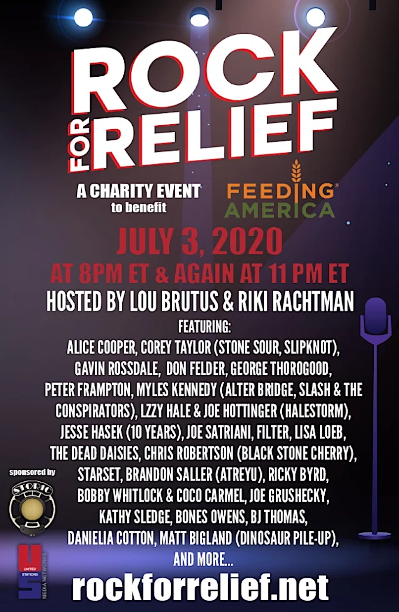 Rock for Relief poster