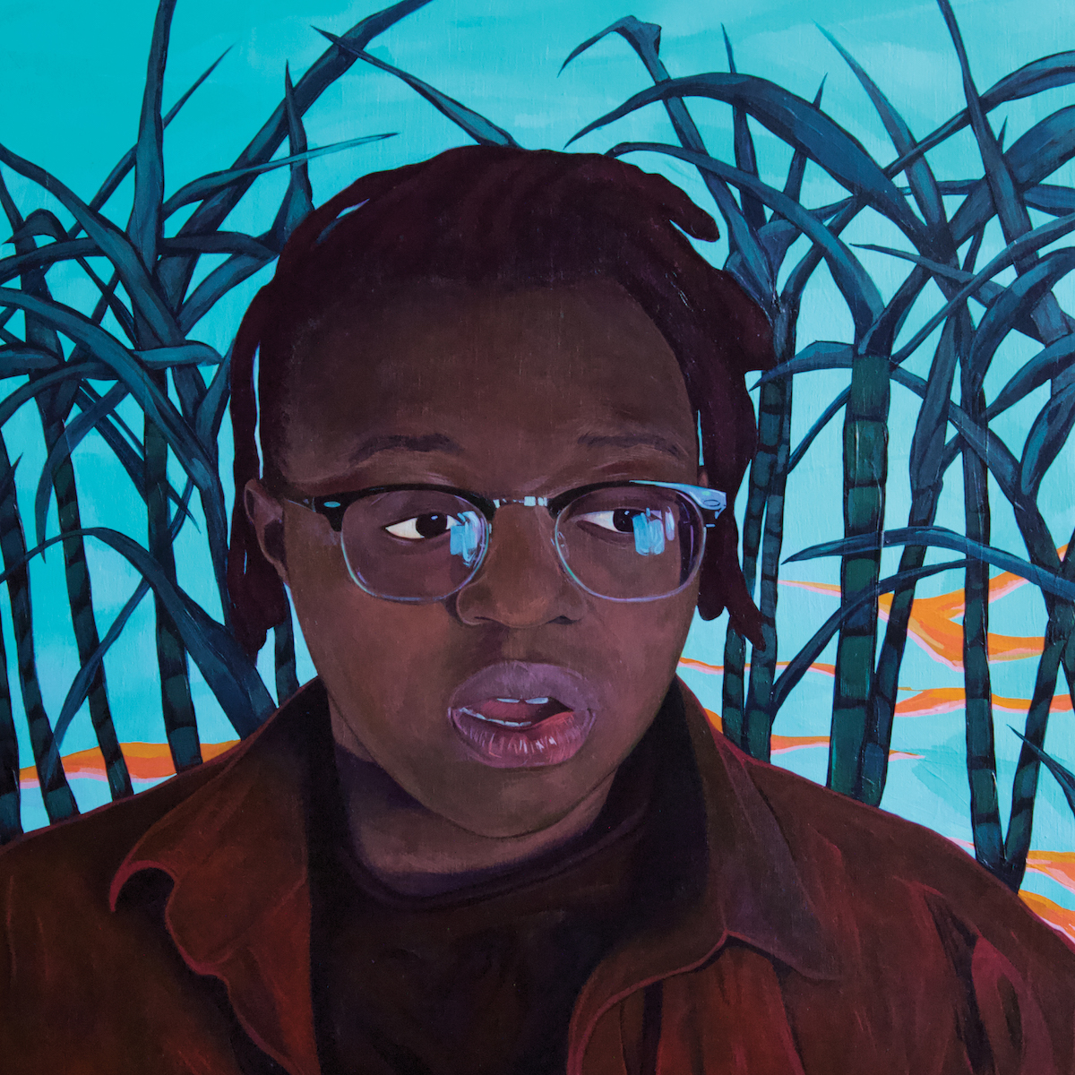 anjimile giver taker artwork cover Artist of the Month Anjimile on Overcoming Addiction, the Power of Ancestry, and Being Black and Trans Under Trump