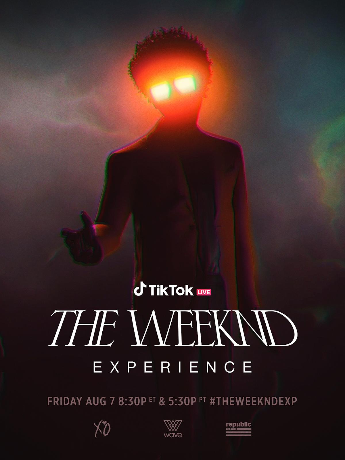 the weeknd experience tiktok.pn posterg
