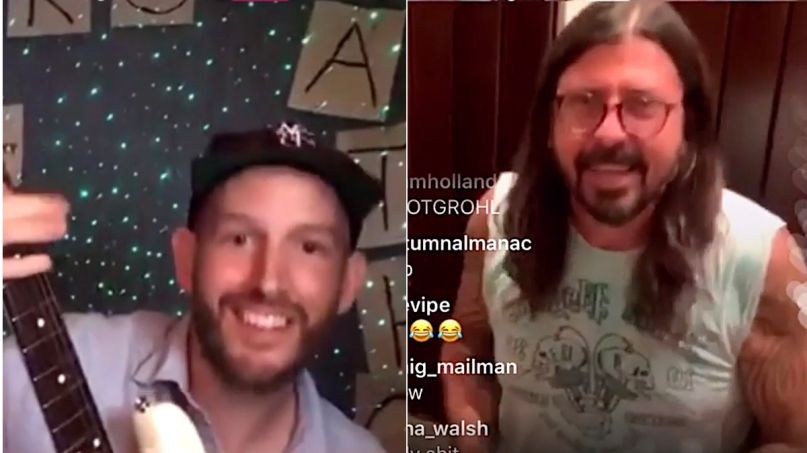 Pat Fan Pat Finnerty and Dave Grohl