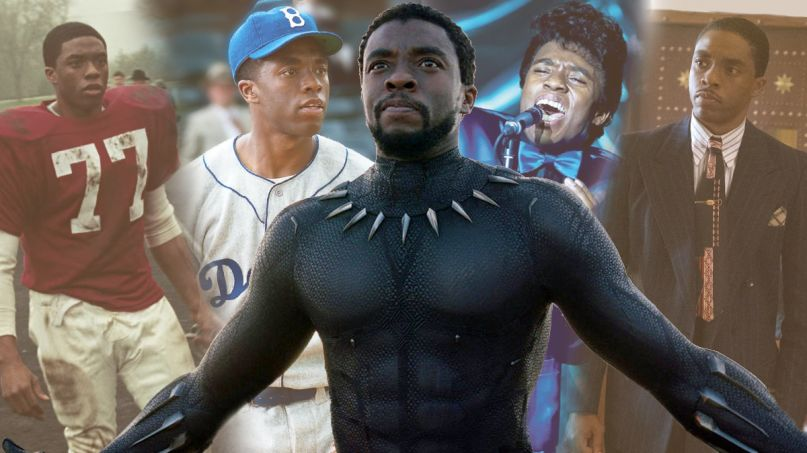 chadwick boseman career strong black men actors characters black panther 42 jackie robinson get on up james brown thurgood marshall