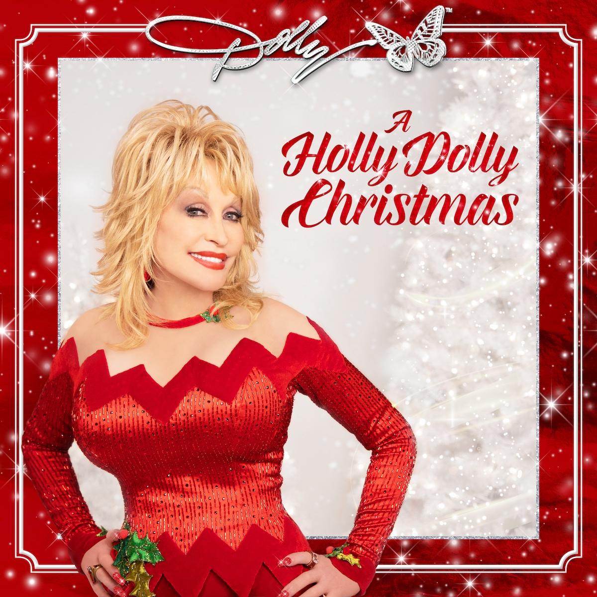 dolly parton a holly dolly christamas album cover artwork