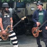 Jason Momoa and Les Claypool jam