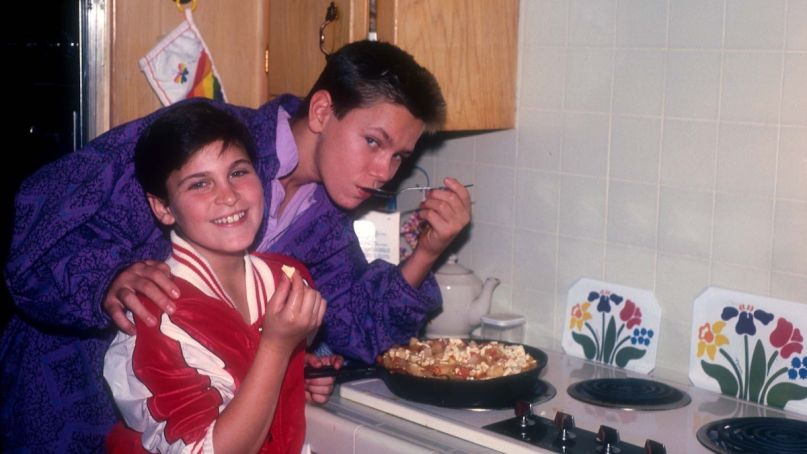 Joaquin Phoenix with River Phoenix