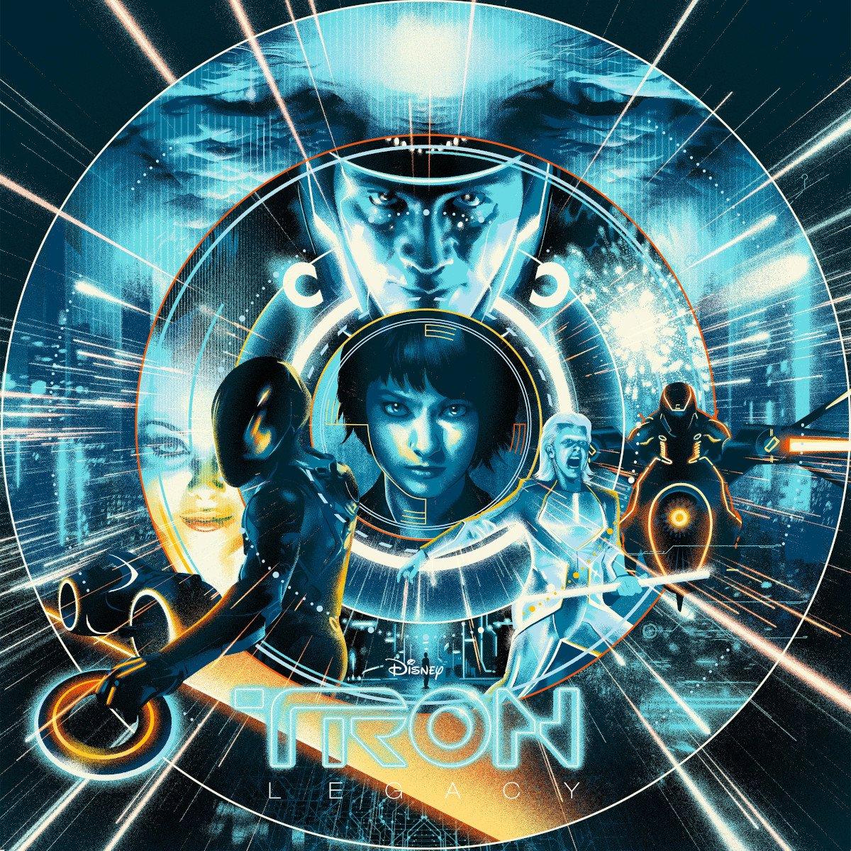 daft punk tron legacy soundtrack score deluxe vinyl reissue mondo cover
