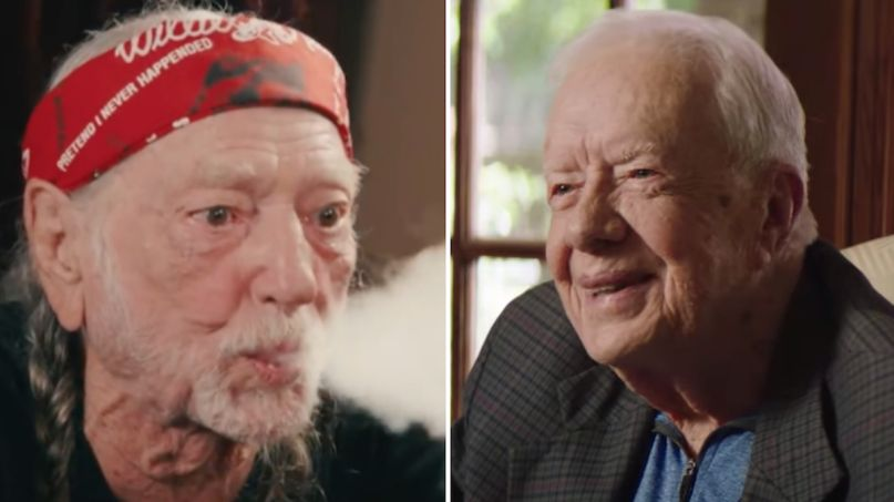 president jimmy carter willie nelson smoked marijuana weed white house son