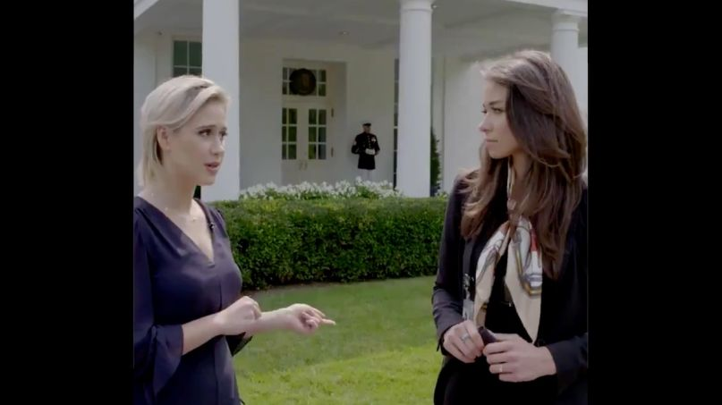 Borat daughter White House OAN new movie clip video, photo via Twitter