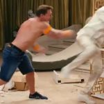 Eric Andre John Cena hospital show stunt throw concussion (Adult Swim)