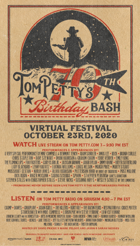 unnamed 1 1 Tom Petty Estate Announces 70th Birthday Bash with Stevie Nicks, Foo Fighters, The Heartbreakers & More