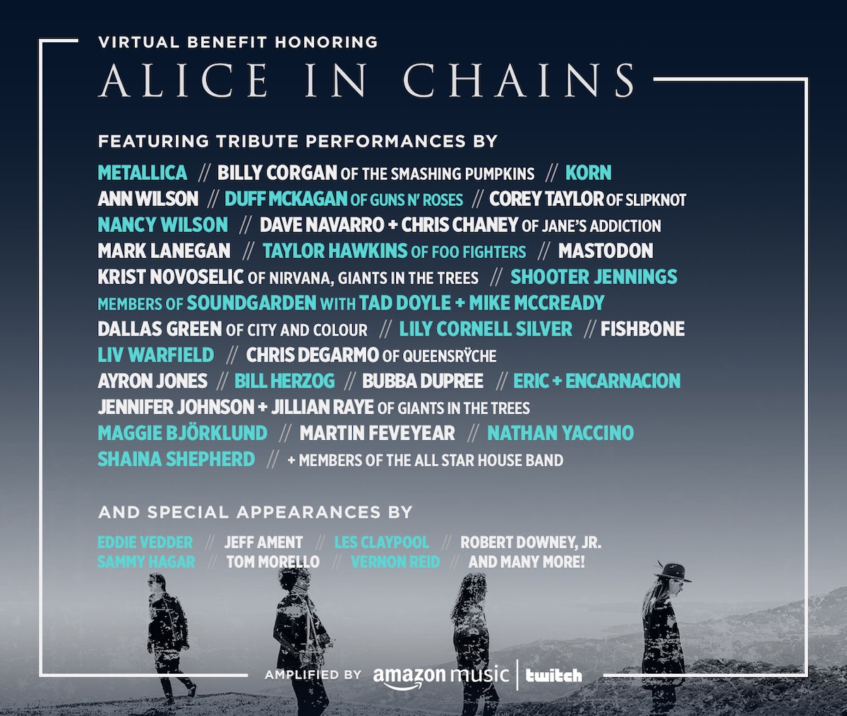 Alice in Chains Founders Award poster