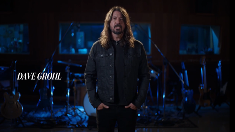 Dave Grohl opens Rock and Roll Hall of Fame Inductions, photo via WarnerMedia