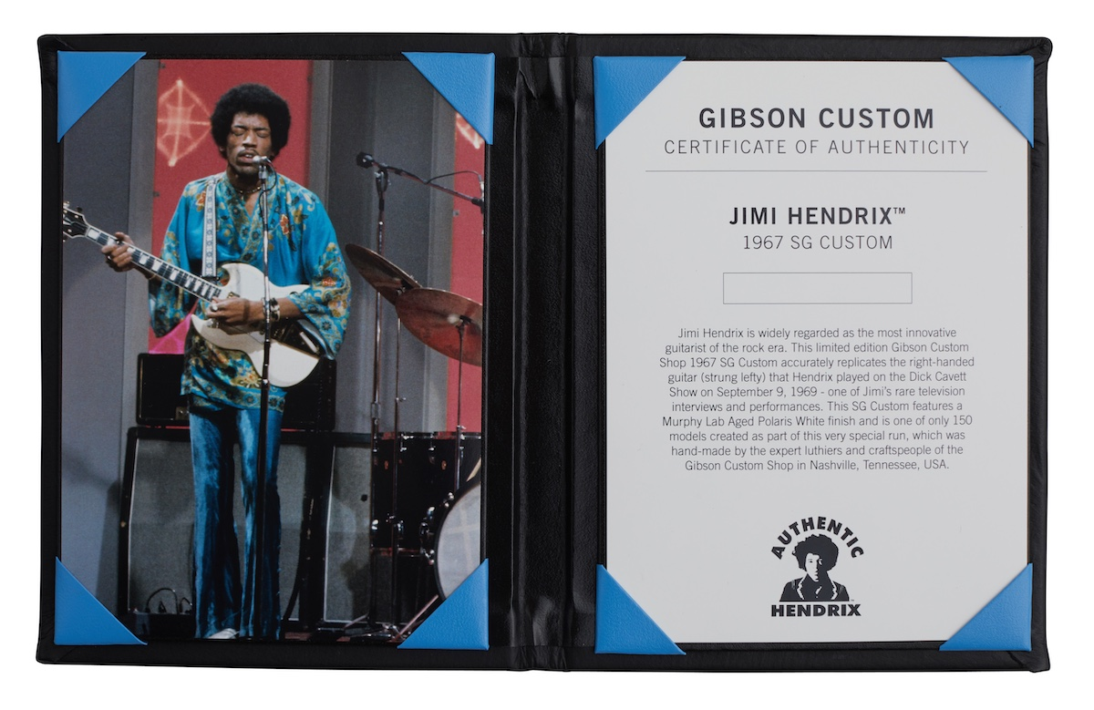 Hendrix SG COA Gibson Custom Shop Recreates Two Classic Jimi Hendrix Guitars
