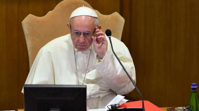 Pope Francis Instagram butt Vatican investigation photo, photo by Andreas Solaro