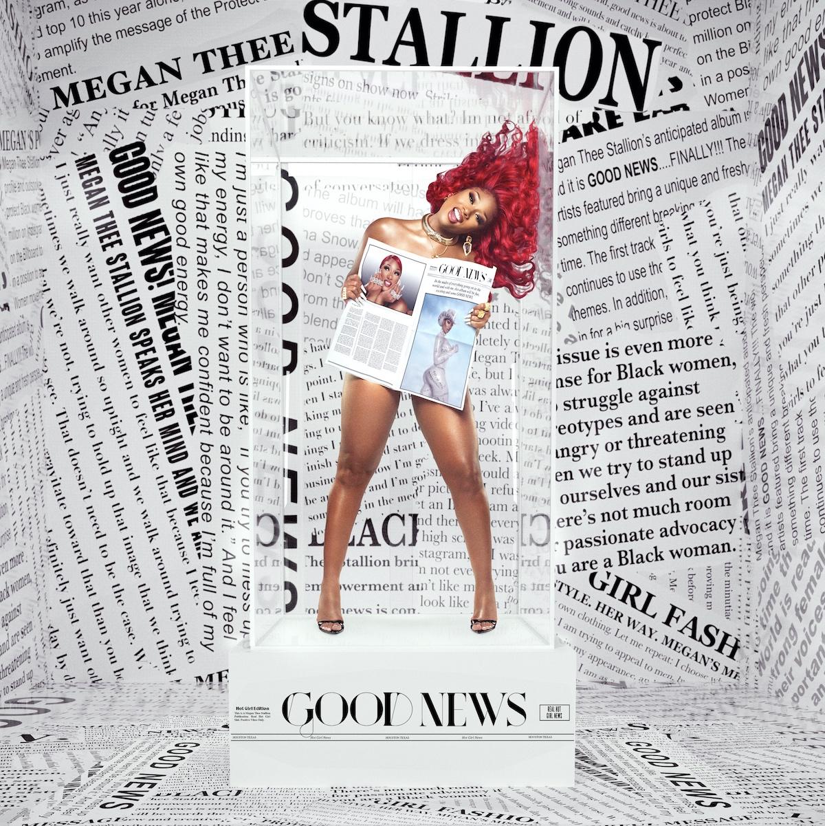 megan thee stallion good news debut album cover artwork