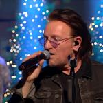 Bono and The Edge Perform Christmas (Baby Please Come Home) On Irish TV