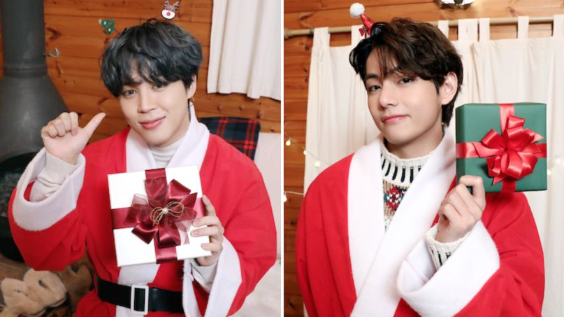 bts jimin v new christmas songs christmas love snow flower