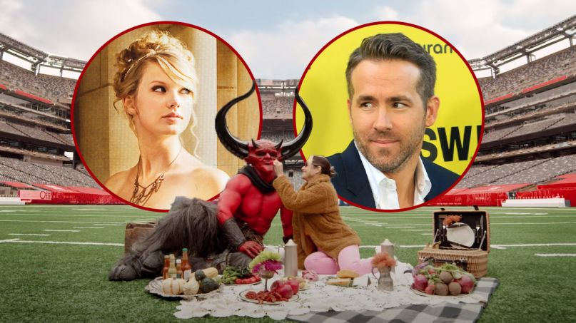 taylor swift love story re-recorded ryan reynolds match ad