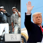 Village People (photo by Heather Kaplan) and Donald Trump (photo by Reuters)
